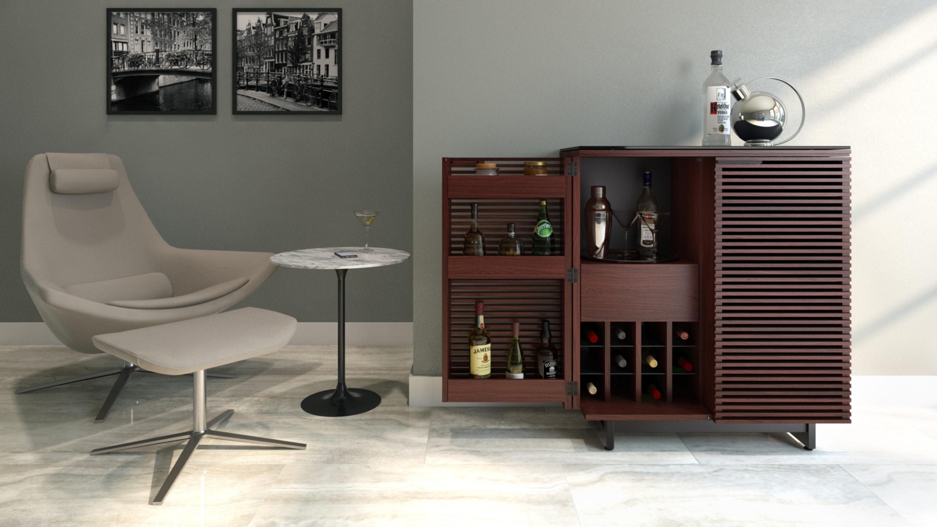 Corridor 5620 Modern Home Bar Cabinet Bdi Furniture
