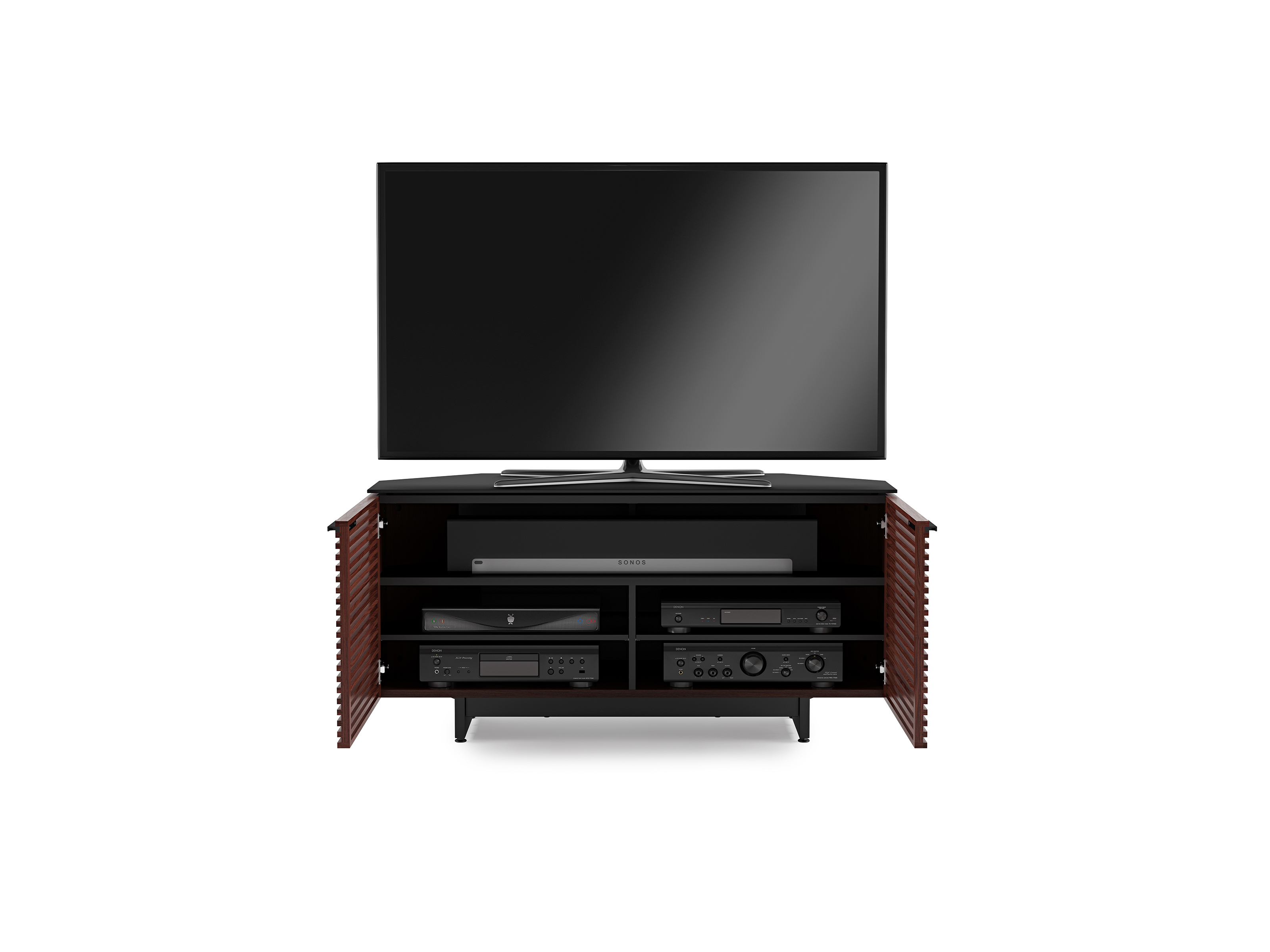 Corridor 8175 Corner Tv Stand Media Console Bdi Furniture