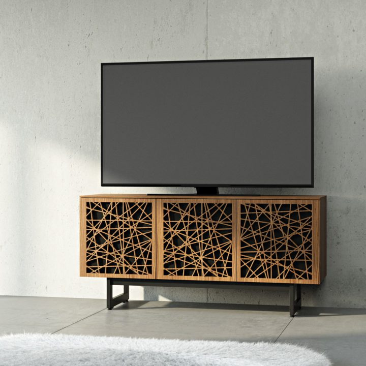 ... The Elements Mosaic Media Storage Cabinet By BDI In Walnut Contemporary Media  Center With Beautiful Wood