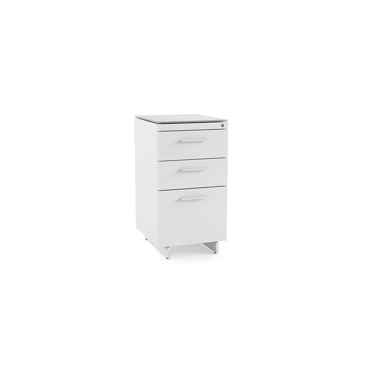 Centro 6414 White 3 Drawer File Cabinet Bdi Furniture