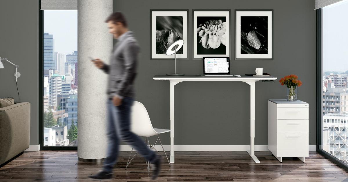 Centro 6451 Lift Standing Desk 60 Quot X24 Quot Bdi Furniture
