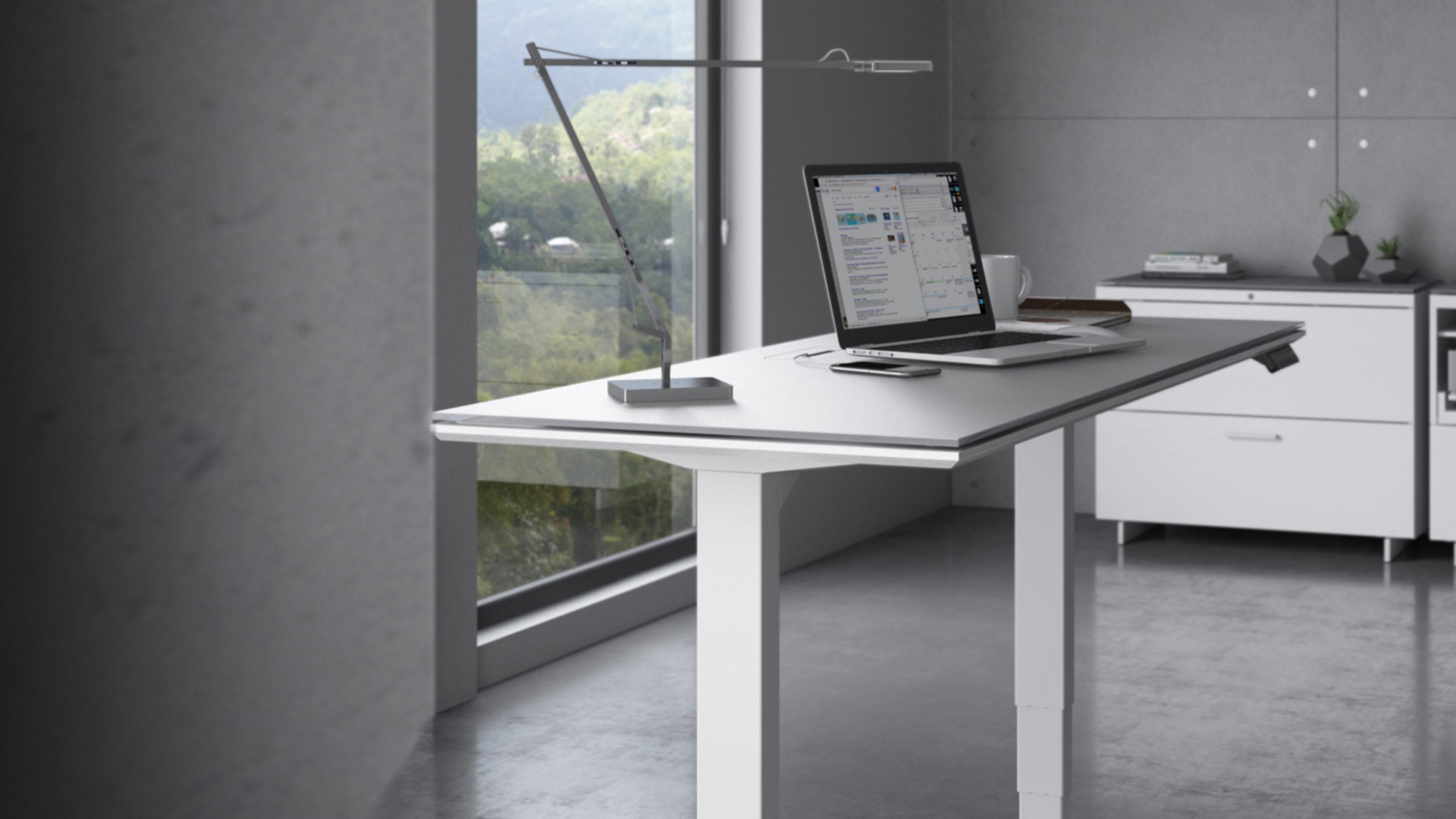 "Centro 40-40 Height Adjustable Standing Desk - 40""x404""  BDI"