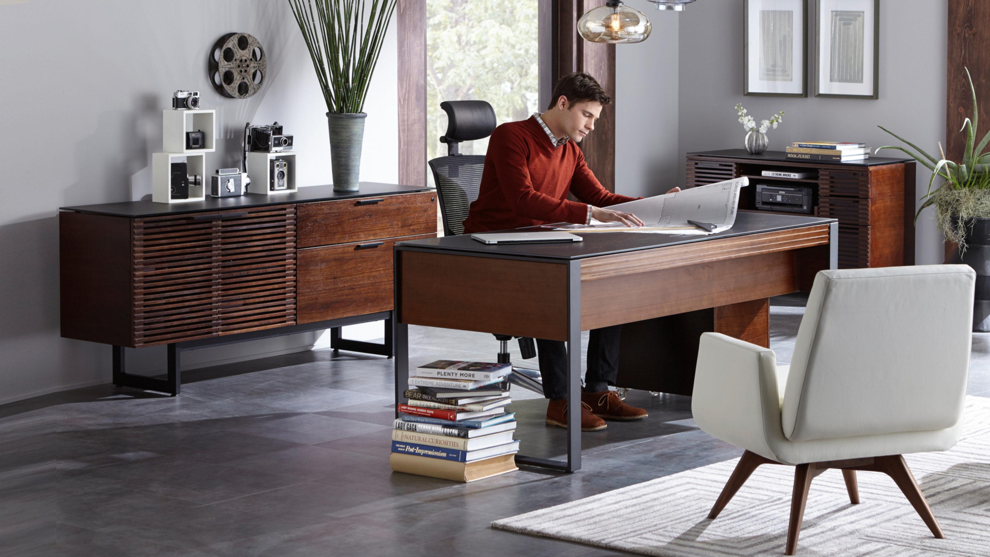 Corridor 40 Modern Executive Office Desk  BDI Furniture
