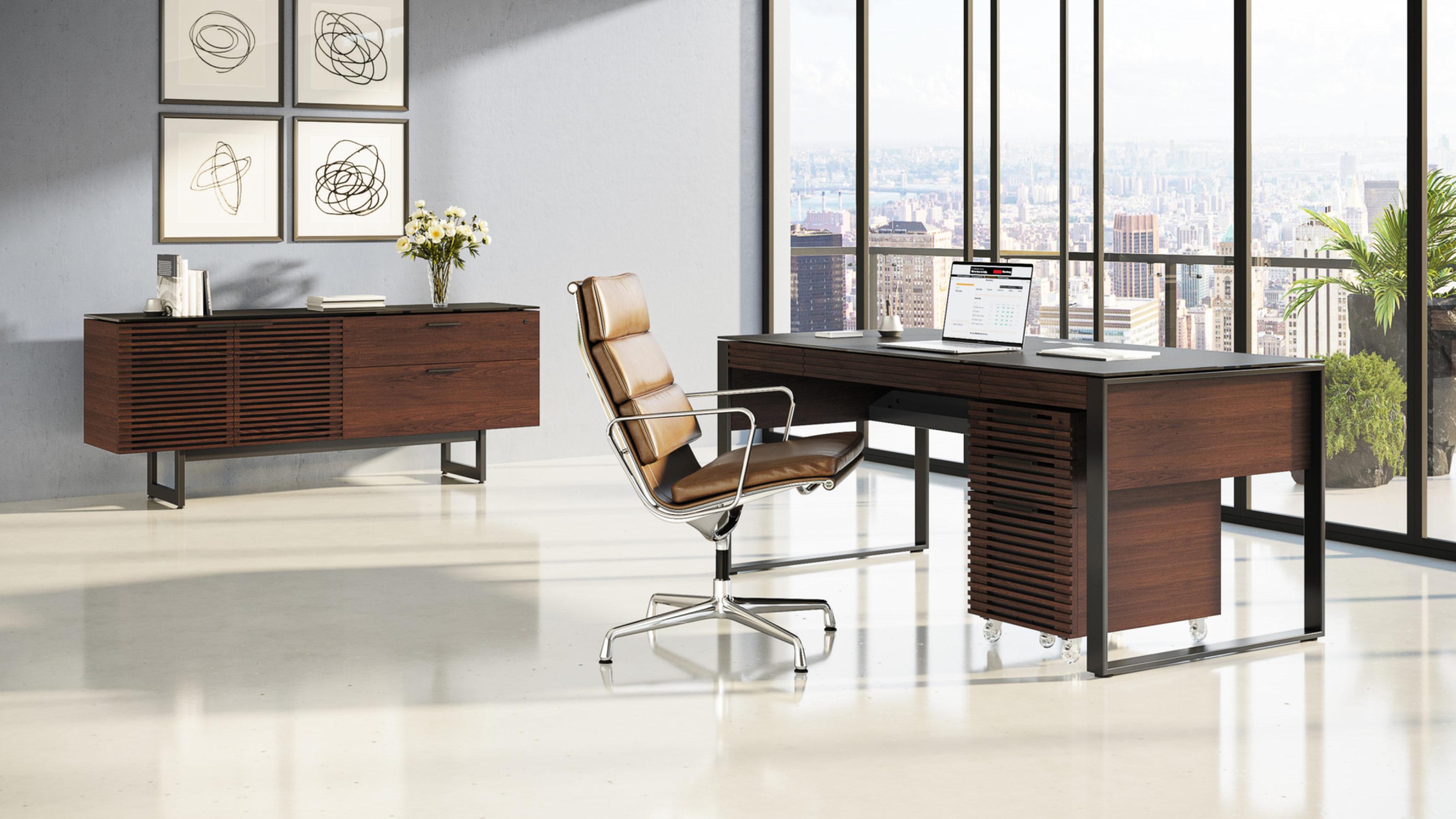 Corridor 6521 Modern Executive Office Desk Bdi Furniture