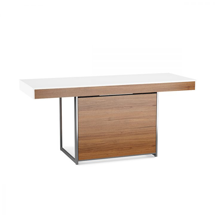 White walnut office furniture Wood Office The Format Contemporary Desk By Bdi In Satin White Walnut With Flipdown Multifunction Drawer Bdi Furniture Format 6301 Desk Bdi Furniture