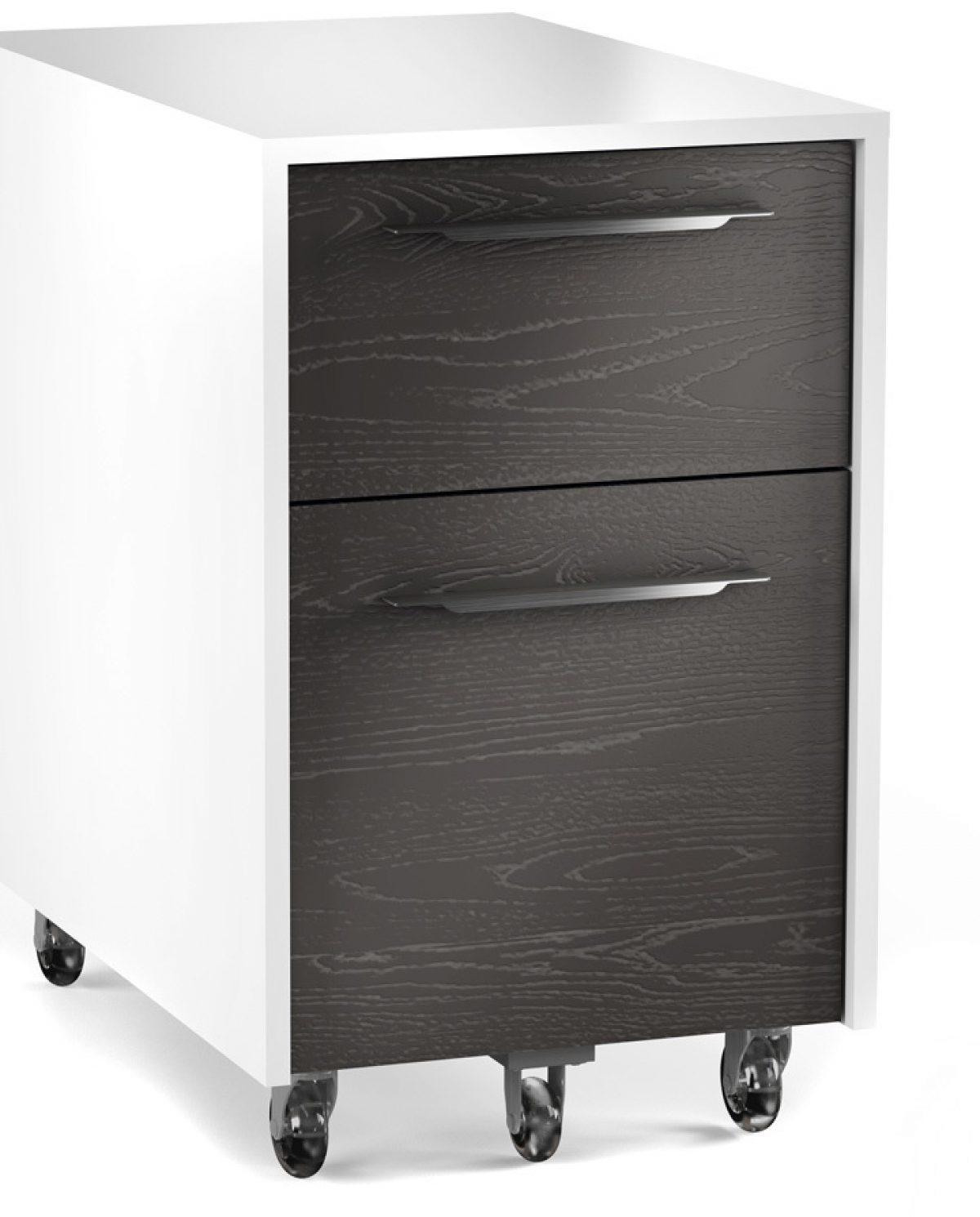 The Format Mobile File Pedestal in charcoal by BDI two drawers for office storage