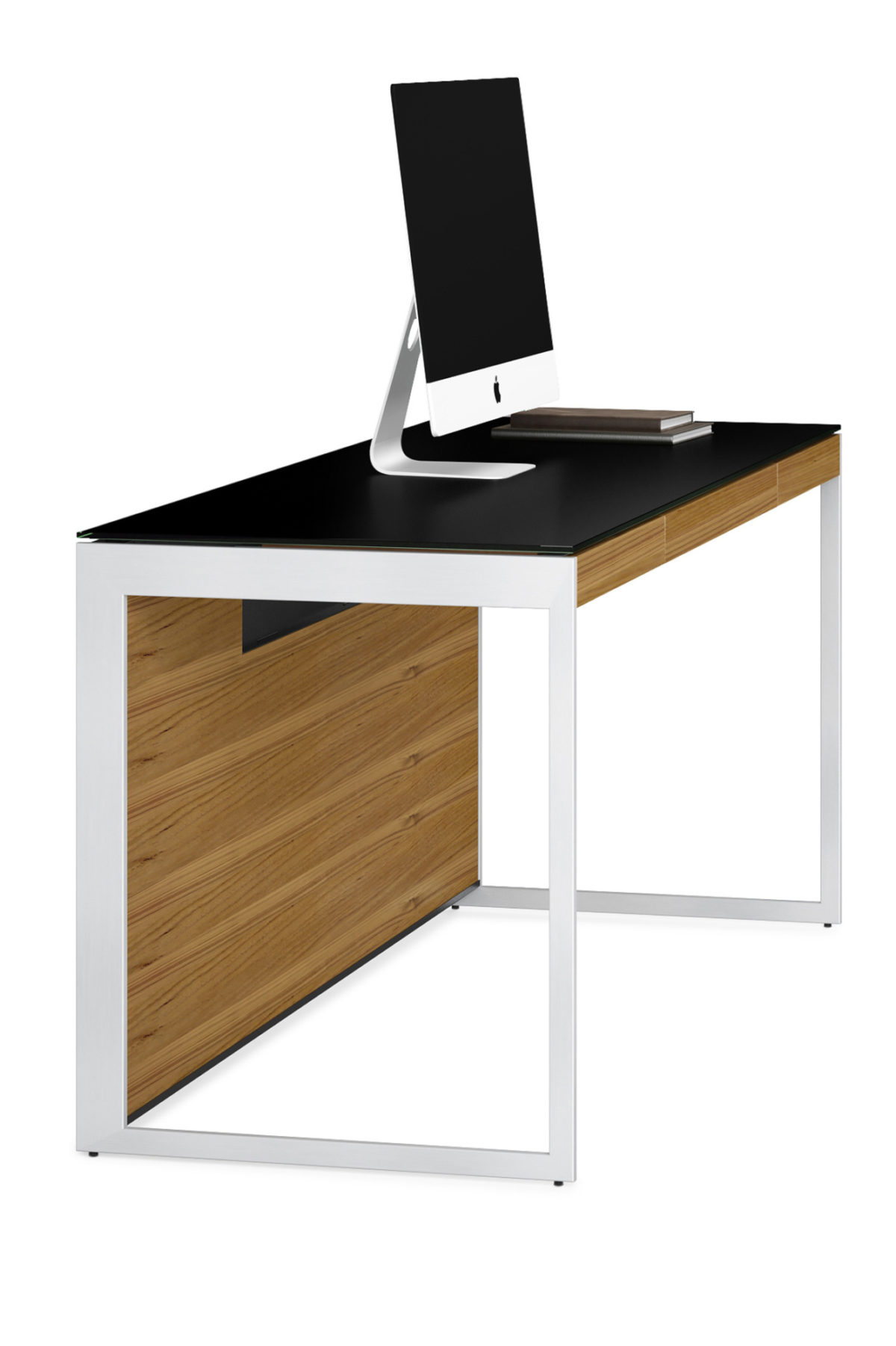 Select from two steel frames for the Sequel 6101 office desk—Satin Nickel and Black powder coat—and three wood finishes to create the Sequel Office that is perfect for you.
