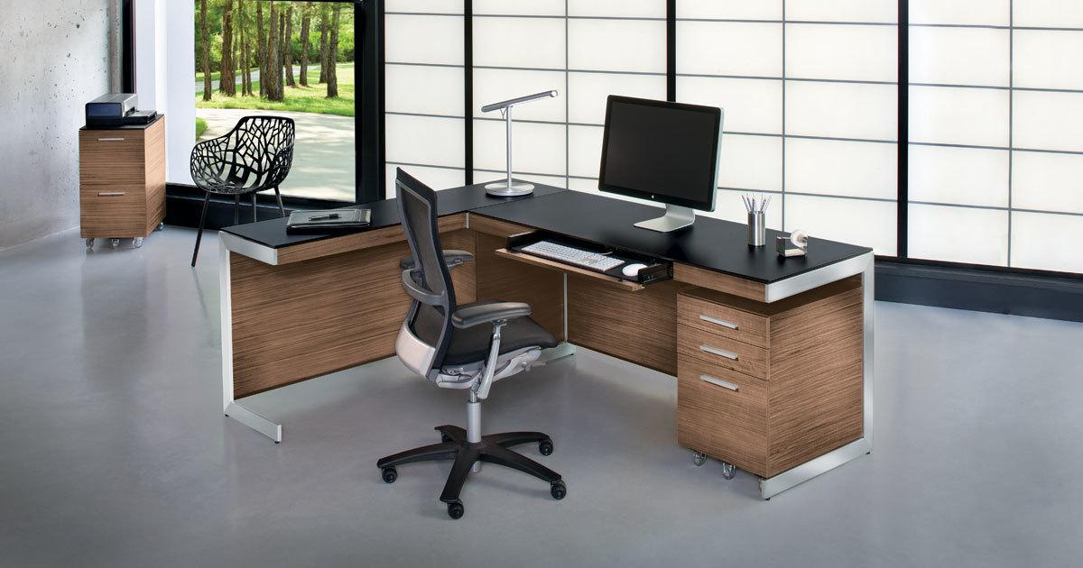 Awesome Modern Home Office Desks Computer Desks Bdi Furniture Beutiful Home Inspiration Truamahrainfo