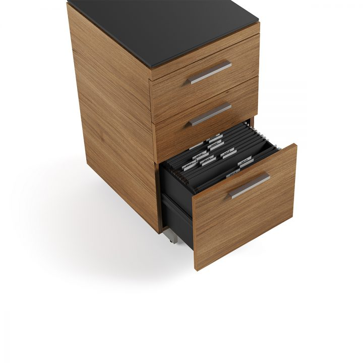 ... The Sequel 3 Drawer File Cabinet By BDI In Walnut Ample File Storage ...