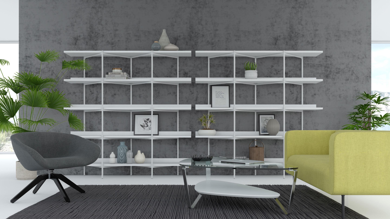 Magnificent Kite 5305 5 Tier Shelves Shelving System Bdi Furniture Dailytribune Chair Design For Home Dailytribuneorg
