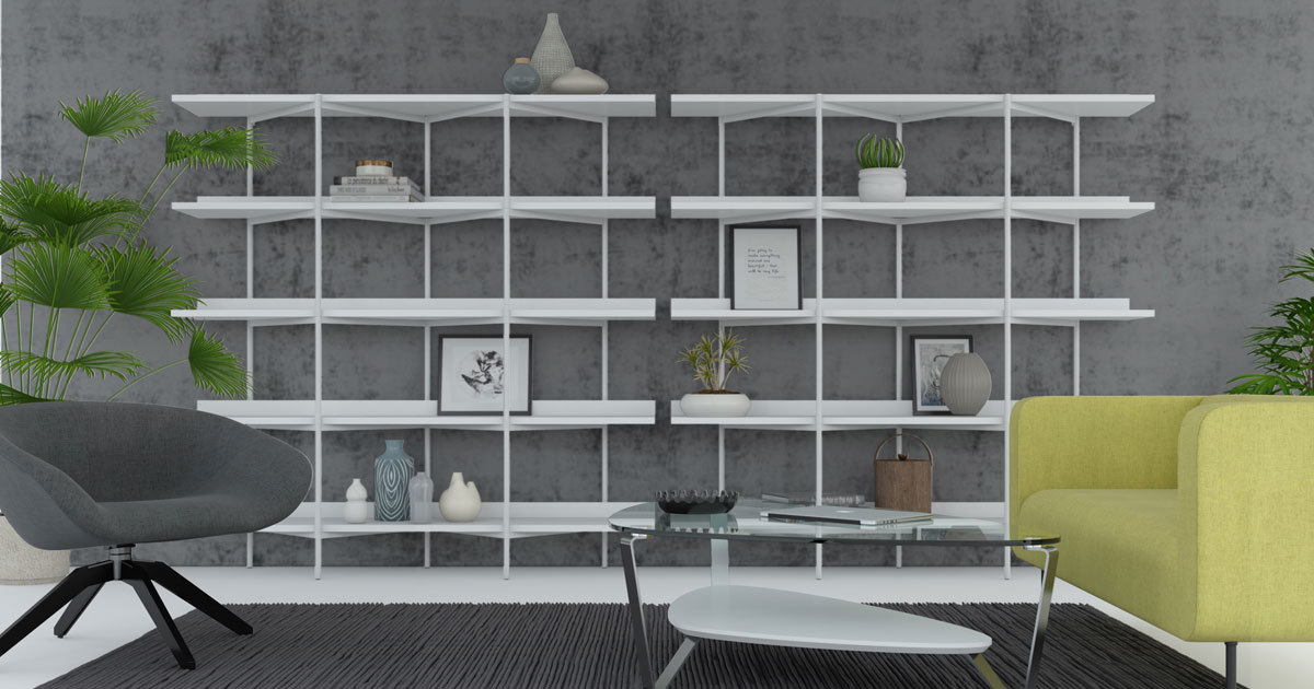 Modern Living Room Shelves, Shelving Units, And Bookcases   BDI Furniture