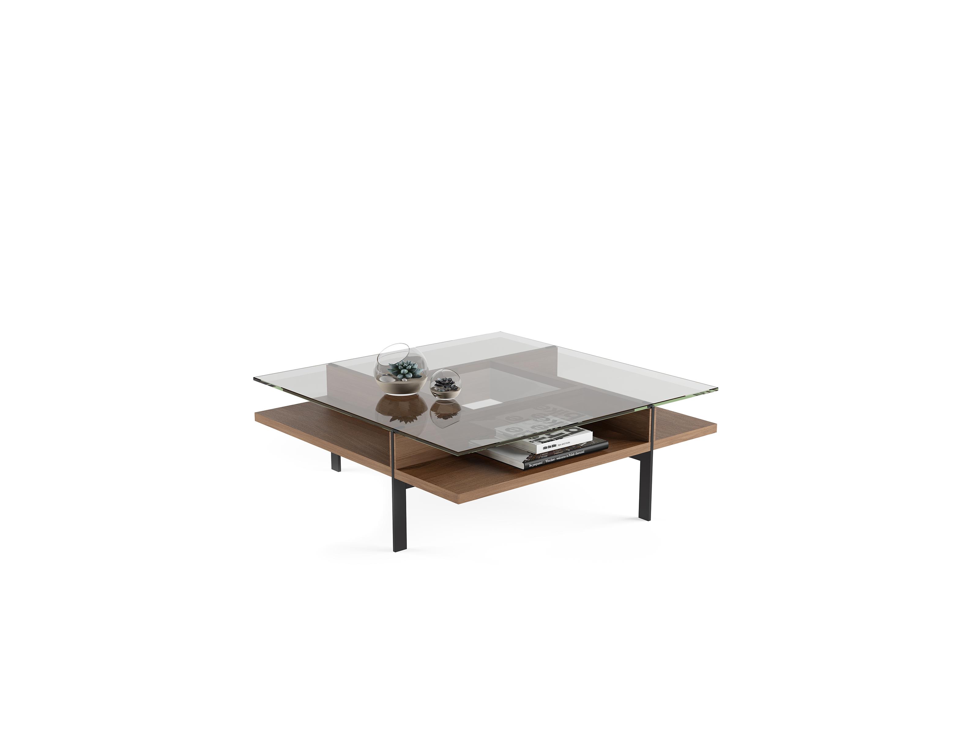 Terrace 1150 Modern Square Glass Coffee Table Bdi Furniture
