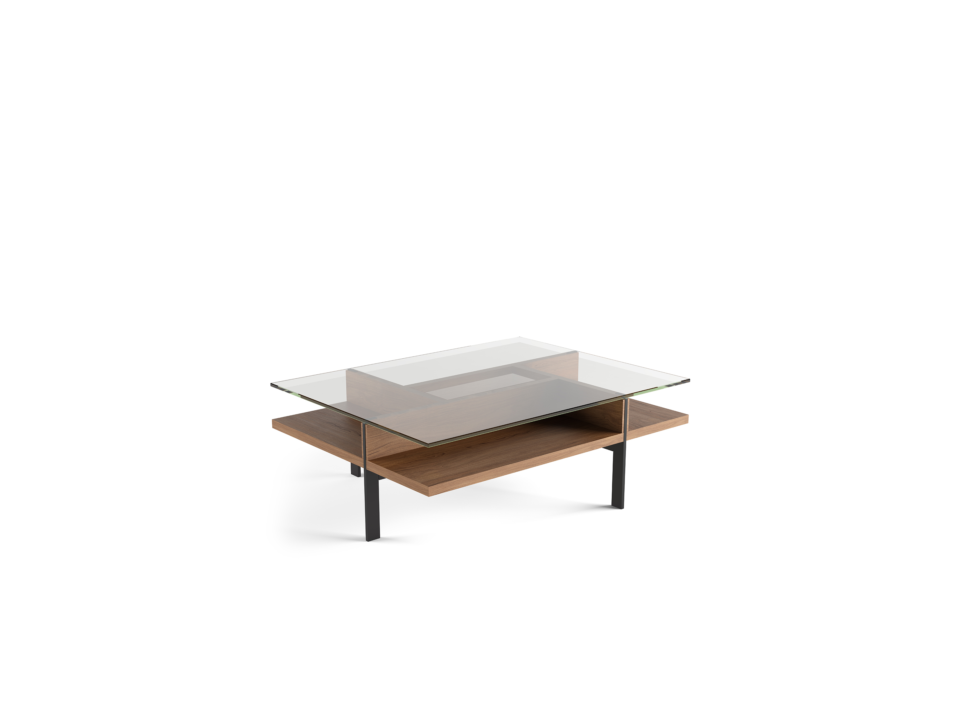 Picture of: Terrace 1152 Modern Rectangular Glass Coffee Table Bdi Furniture