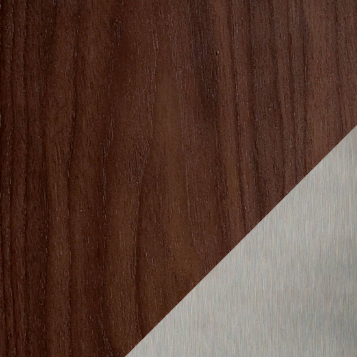 Chocolate Walnut / Satin Nickel