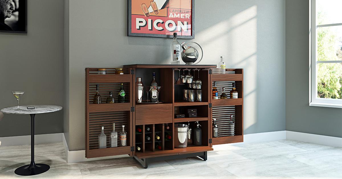 Corridor 5620 Home Bar Amp Bar Cabinet Bdi Furniture