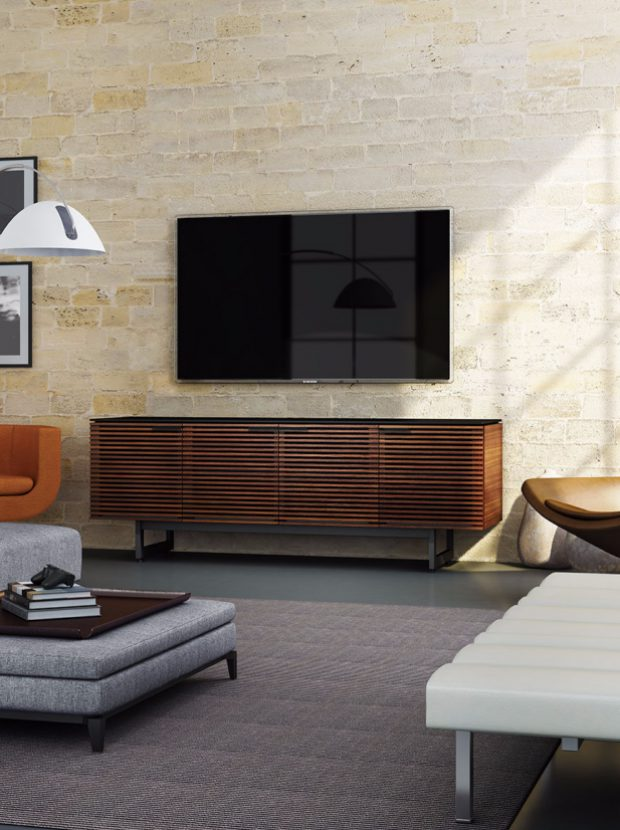 The Corridor Collection by BDI featuring Media Console modern Tv Cabinet