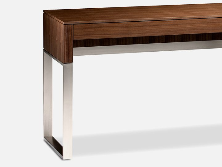 The versatile Cascadia Console Laptop Desk in Walnut by BDI