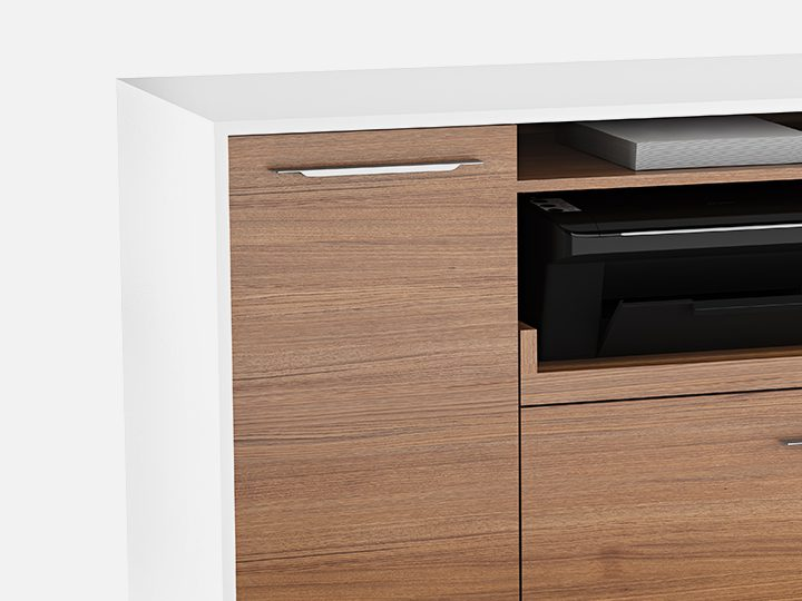 The Format Multifunction Cabinet by BDI with locking file and storage drawers