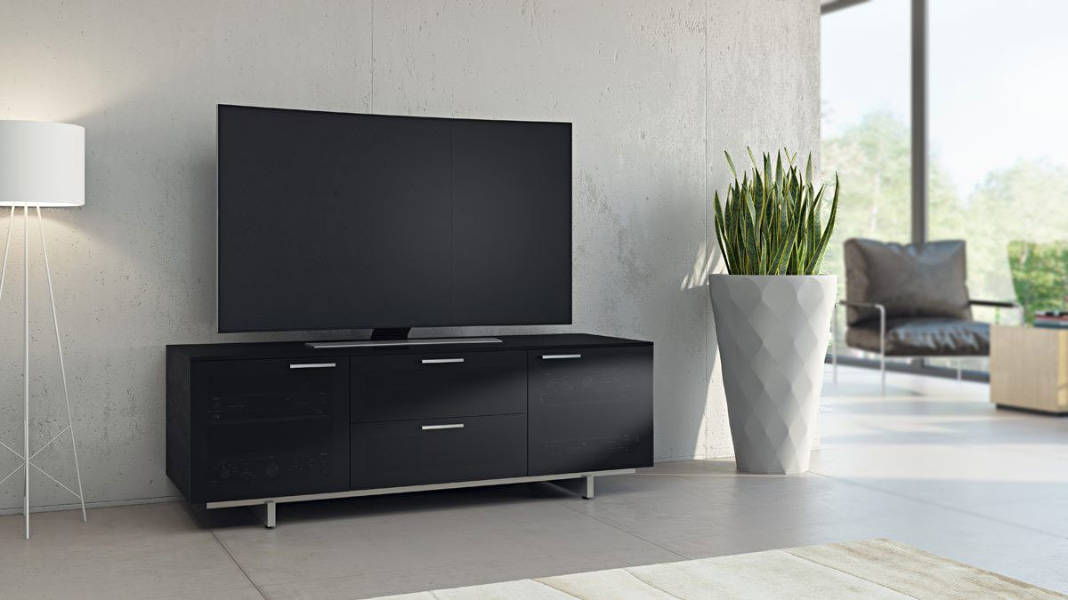 The Avion Noir Collection by BDI sleek home theater system