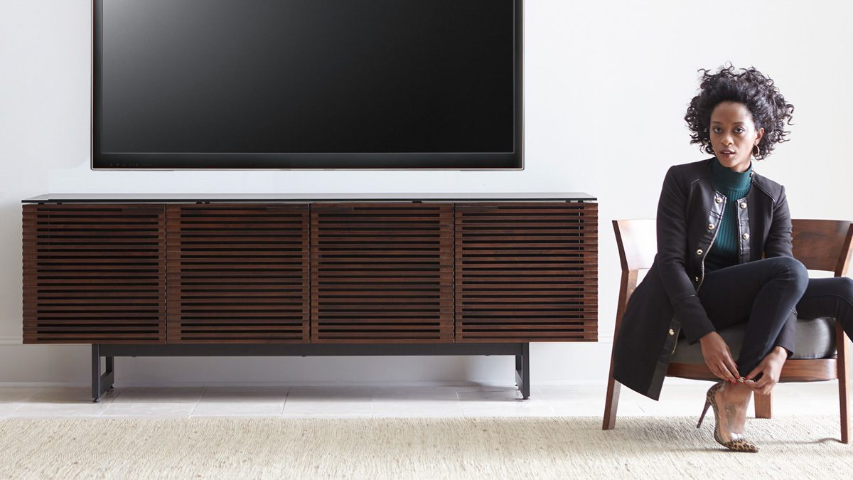The Corridor Collection by BDI featuring elegant Media Console for home entertainment center