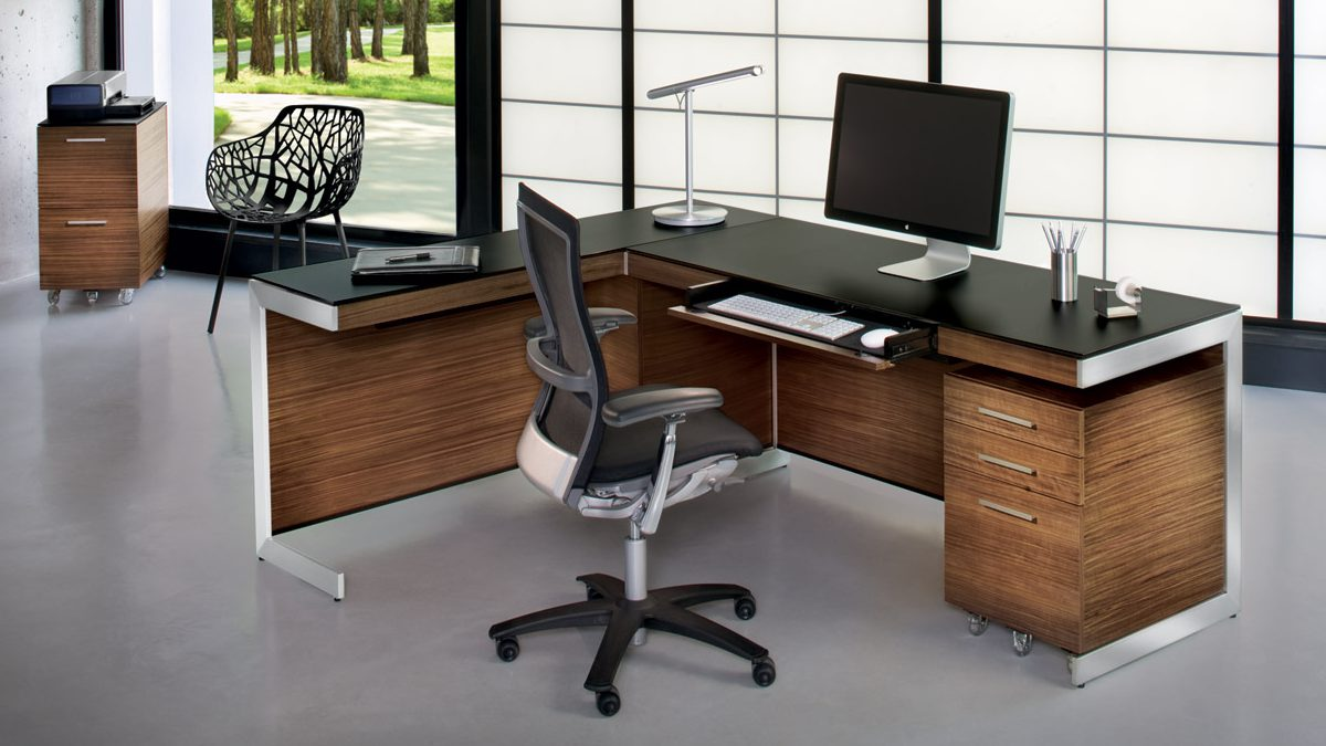 The sleek modern Sequel Office Collection by BDI