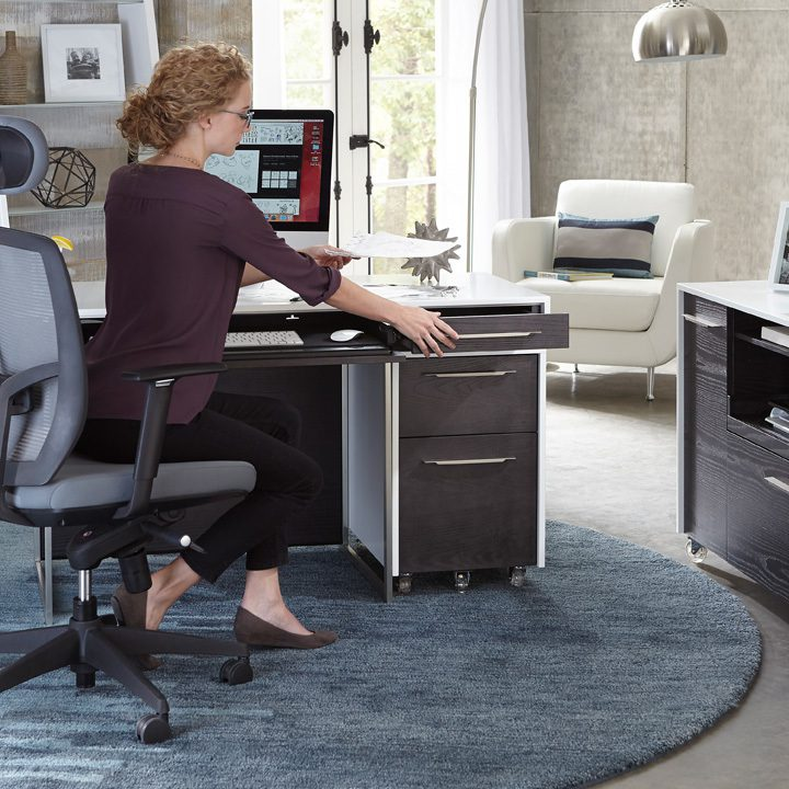 The Format Collection by BDI in charcoal modern home office