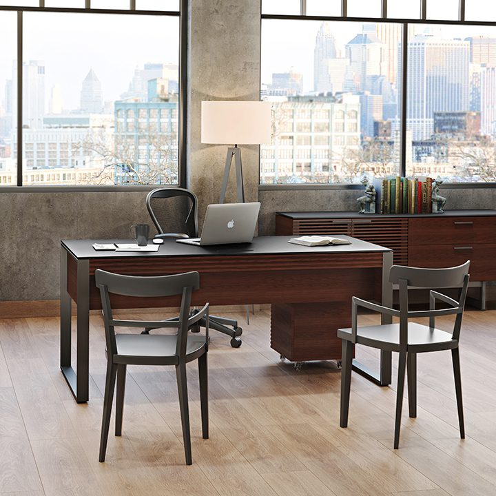 Warm Cherry Executive Desk Home Office Collection: Modern Home Office Desks & Computer Desks