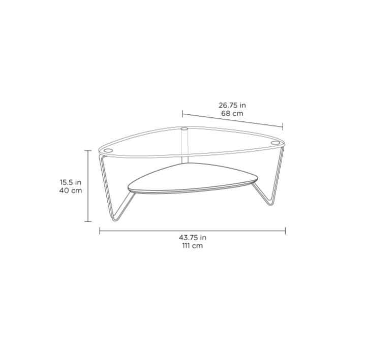 Radius Taupe Square Modern Coffee Table By Bdi: Dino 1344 Small Coffee Table