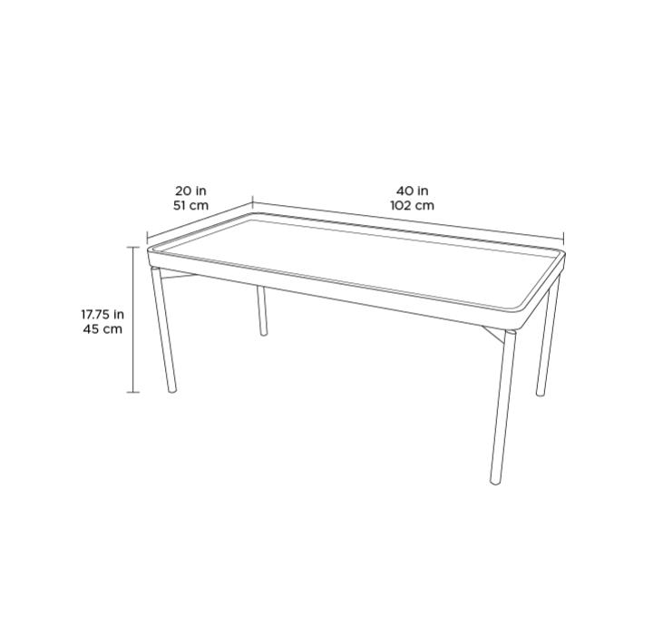 Radius Taupe Square Modern Coffee Table By Bdi: Radius 1732 Rectangular Coffee Table