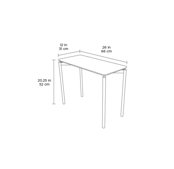 Radius Taupe Square Modern Coffee Table By Bdi: Radius 1733 Rectangular End Table