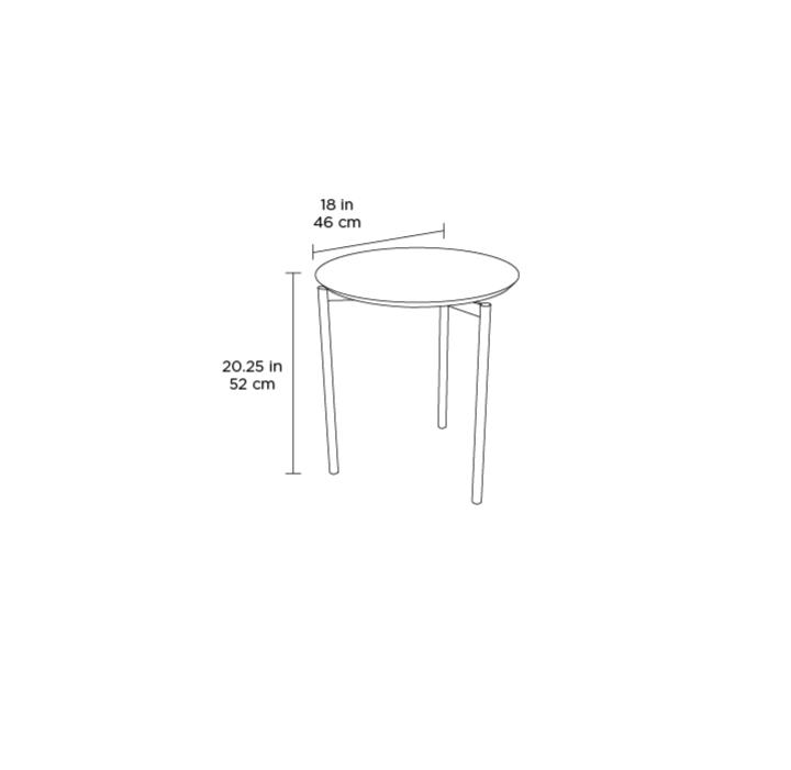 Radius Taupe Square Modern Coffee Table By Bdi: Radius 1736 Round End Table